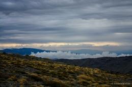 L'alba dal sentiero di partenza del trekking