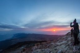 Alba dalla cima del Teide
